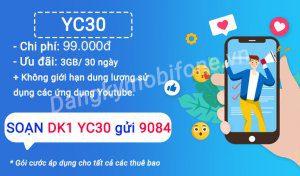 Hướng dẫn đăng ký gói cước YC30 Mobifone